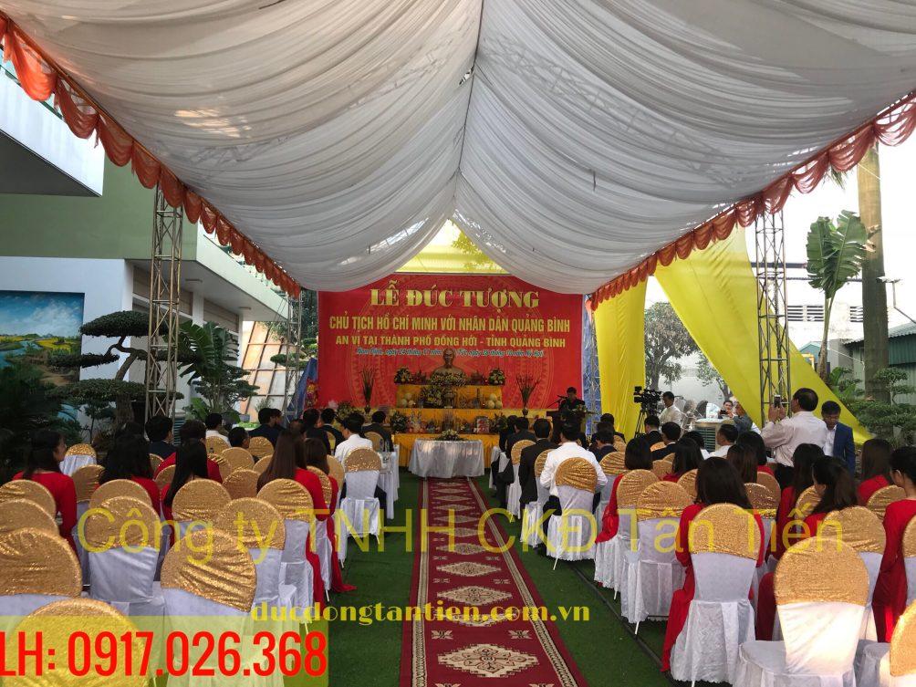 Buổi Lễ tổ chức đúc tượng Bác tại xưởng đúc đồng Tân Tiến